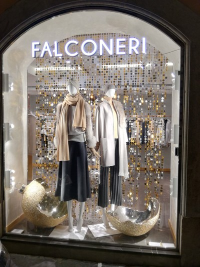 Double sided 2 colour sequin curtain made bespoke for fashion brand